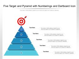 Five Target And Pyramid With Numberings And Dartboard Icon