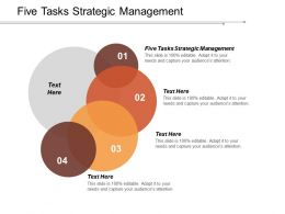 Five Tasks Strategic Management Ppt Powerpoint Presentation Model Influencers Cpb