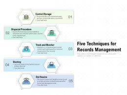 Five Techniques For Records Management