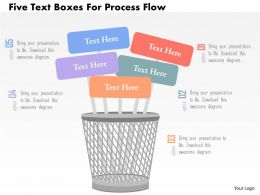 Five Text Boxes For Process Flow Flat Powerpoint Design