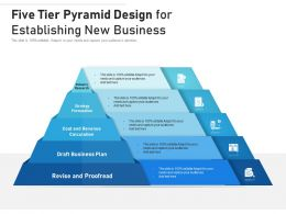 Five Tier Pyramid Design For Establishing New Business