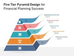 Five Tier Pyramid Design For Financial Planning Success
