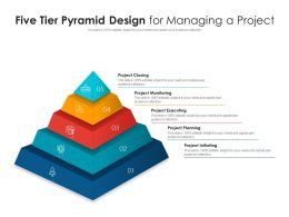 Five Tier Pyramid Design For Managing A Project