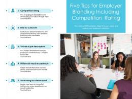 Five Tips For Employer Branding Including Competition Rating