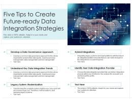 Five Tips To Create Future Ready Data Integration Strategies