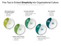 Five Tips To Embed Simplicity Into Organizational Culture
