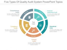 Five Types Of Quality Audit System Powerpoint Topics