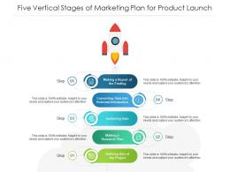 Five Vertical Stages Of Marketing Plan For Product Launch