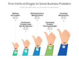 Five Vertical Stages To Solve Business Problem