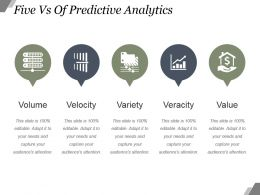 Five Vs Of Predictive Analytics Powerpoint Slide Background Picture