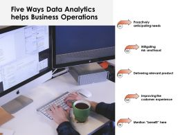 Five Ways Data Analytics Helps Business Operations