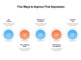 Five Ways To Improve First Impression
