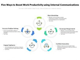 Five Ways To Boost Work Productivity Using Internal Communications