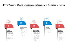 Five Ways To Drive Customer Retention To Achieve Growth