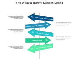 Five Ways To Improve Decision Making