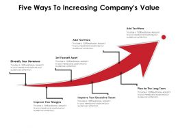 Five Ways To Increasing Companys Value
