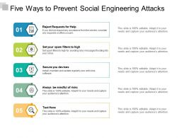 Five Ways To Prevent Social Engineering Attacks