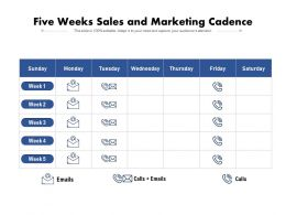 Five Weeks Sales And Marketing Cadence