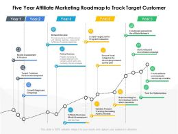 Five Year Affiliate Marketing Roadmap To Track Target Customer