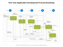 Five Year Application Development Process Roadmap