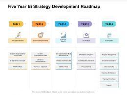Five Year Bi Strategy Development Roadmap