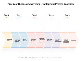 Five Year Business Advertising Development Process Roadmap