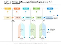 Five Year Business Data Analysis Process Improvement Best Practices Roadmap