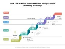 Five Year Business Lead Generation Through Online Marketing Roadmap