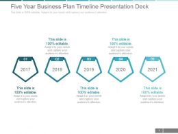 Five Year Business Plan Timeline Presentation Deck