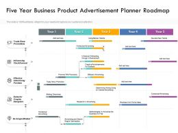 Five Year Business Product Advertisement Planner Roadmap