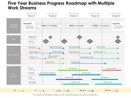 Five Year Business Progress Roadmap With Multiple Work Streams