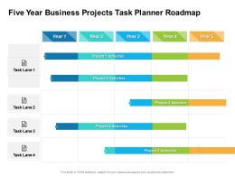 Five Year Business Projects Task Planner Roadmap