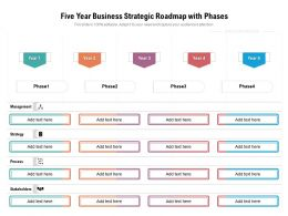 Five Year Business Strategic Roadmap With Phases