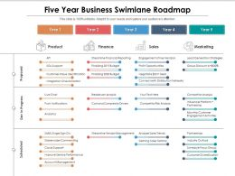 Five Year Business Swimlane Roadmap