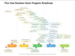 Five Year Business Team Program Roadmap
