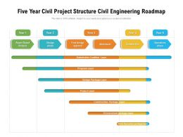 Five Year Civil Project Structure Civil Engineering Roadmap