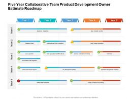 Five Year Collaborative Team Product Development Owner Estimate Roadmap