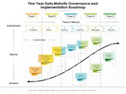Five Year Data Maturity Governance And Implementation Roadmap