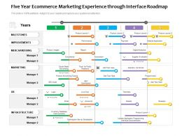 Five Year Ecommerce Marketing Experience Through Interface Roadmap