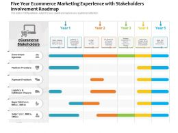 Five Year Ecommerce Marketing Experience With Stakeholders Involvement Roadmap