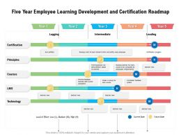 Five Year Employee Learning Development And Certification Roadmap