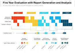 Five Year Evaluation With Report Generation And Analysis