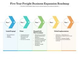 Five Year Freight Business Expansion Roadmap