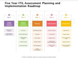 Five Year ITIL Assessment Planning And Implementation Roadmap