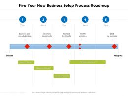 Five Year New Business Setup Process Roadmap