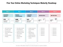 Five Year Online Marketing Techniques Maturity Roadmap