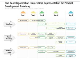 Five Year Organization Hierarchical Representation For Product Development Roadmap