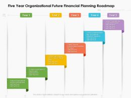 Five Year Organizational Future Financial Planning Roadmap