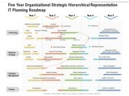 Five Year Organizational Strategic Hierarchical Representation IT Planning Roadmap