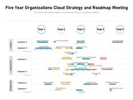 Five Year Organizations Cloud Strategy And Roadmap Meeting